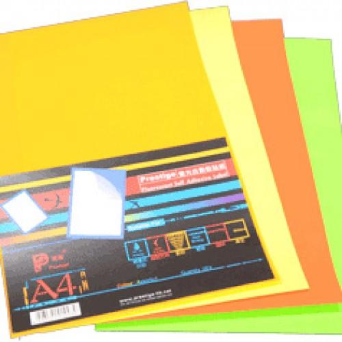 高雅螢光自動黏貼紙
