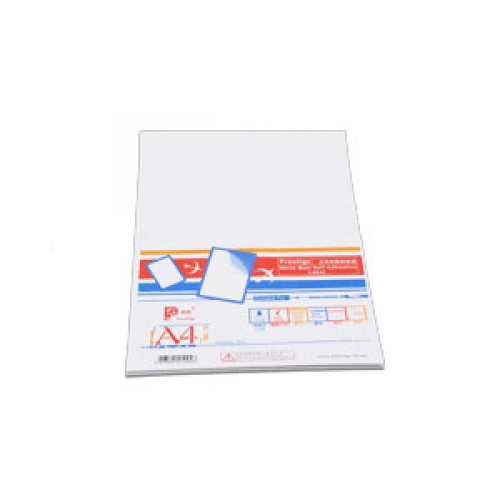 高雅白色自動黏貼紙